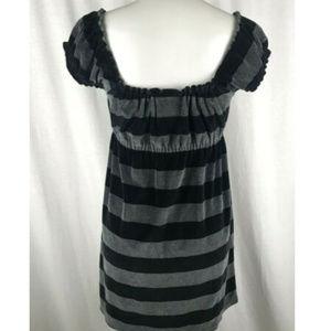 PINK Victoria's Secret Dresses - Victorias Secret PINK Dress Sz M Black Gray Stripe